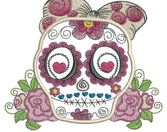 Sugar Skull - Machine Embroidery Design
