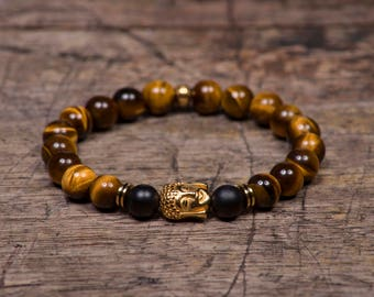Gold Buddha - Tigers Eye