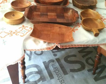 Woven wooden bowls