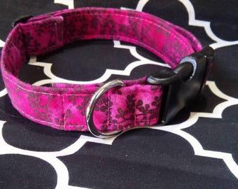 Magenta Vine Cat / Dog Collar