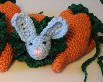 Bunny in a Carrot bag