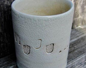 MEA cups, mugs, cow tail mugs, ceramic cups, clay cups