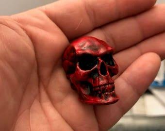 Fridge Magnets, Skull Magnet, Gothic Magnet, Human Skull Magnet, Red Skull,Neodymium magnet