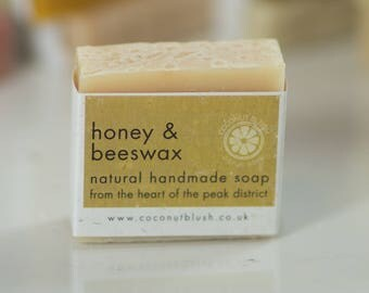Honey & Beeswax Handmade Soap. Natural Soap, Handmade Soap, SLS Free, Shea Butter, Olive Oil, Bathroom, Skin Care, Dry Skin, Aromatherapy.