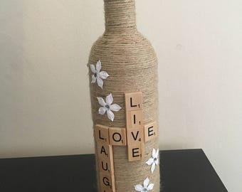 Handcrafted Twine Bottles