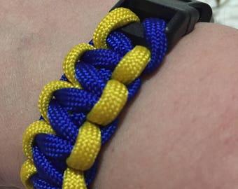 Paracord 550 Bracelet with Plastic Clasp
