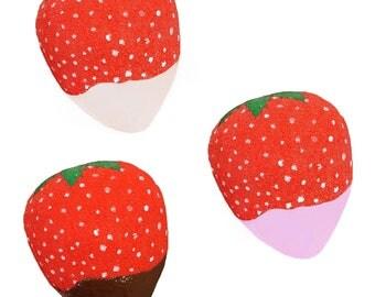 JUMBO/Mini Chocolate Dipped Strawberry Squishy
