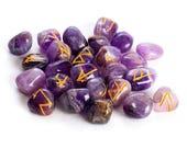 Amethyst Runes Elder Futhark Crystal