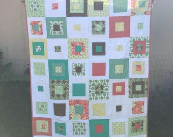 Handmade quilt throw size
