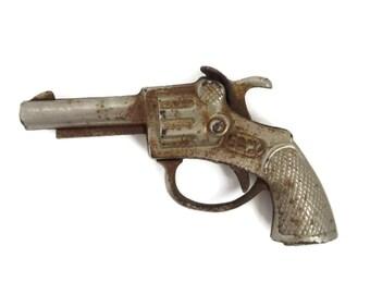 Vintage ECHO Cap Gun, 1930s Metal Toy, Collectible Toy Gun