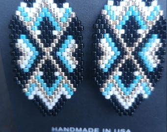 Native American Handmade Brick Stitch Earrings