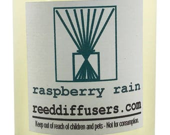 8 oz Raspberry Rain Fragrance Reed Diffuser Oil Refill  - Made in the USA