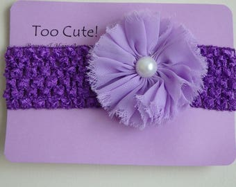Pretty Purple Headband with Pearl Accent