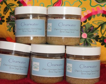 Clearwater Organic Lemongrass and Sweet Orange  Brown Sugar Scrub
