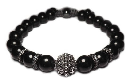 The black shamballa bracelet