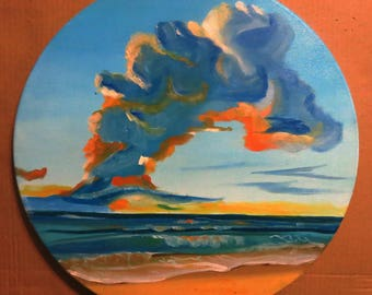 sky painting lanskape oil painting art