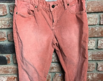 Anthropologie Pilcro Pink Corduroy Pants Size 28