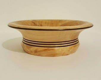 Natural Hard Wood Turned Bowl