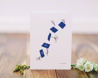 Graduation Card - Blue Flying Cap