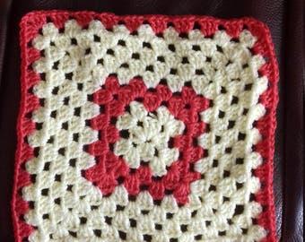 Crochet granny square 8 inch
