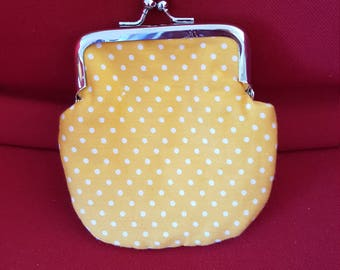 Brightly coloured Coin purse with clasp.