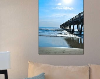Beach and Pier - Jacksonville, FL pier sign Wall Art - Digital, Print, or Canvas