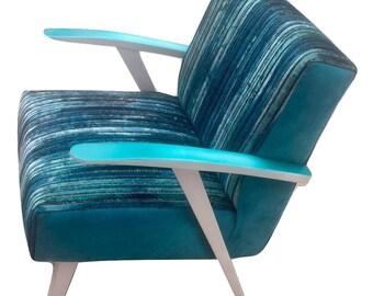 Vintage Turquoise Armchair - Cosmic Waterfall