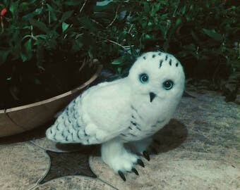 Harry Potter Hedwig owl. Wool of doll.