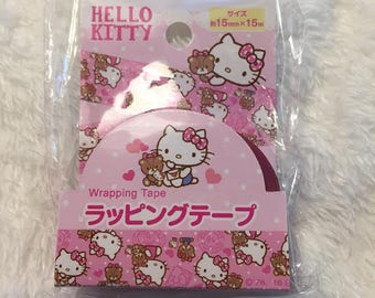 Wrapping Tape Hello Kitty KAWAII SANRIO from Japan Decoration tape