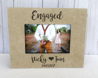 engagement picture frame. Proposal frame. Engagement party gift. Engaged.