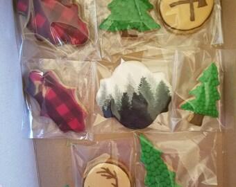 lumberjack sugar cookies