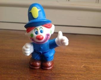 Vintage plastic clown around figure policeman 1981