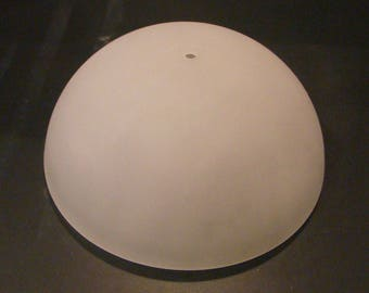 Frosted glass globe shade