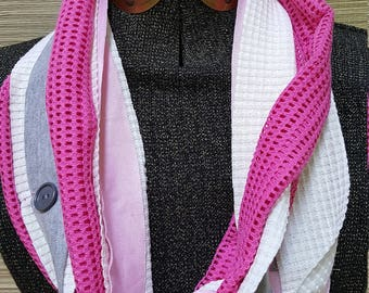 Pink and grey Women's Infinity All Daywear Scarf