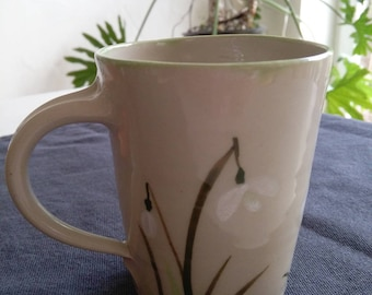 Cup of hand-painted Snowdrops