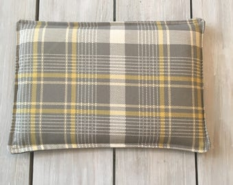 Heat Therapy Rice Bag, Microwave Rice Bag Heating Pad, Hot/Cold Pack,Get Well Gift, Gift for Him or Her, Plaid Rice Heating Bag,Heat Therapy