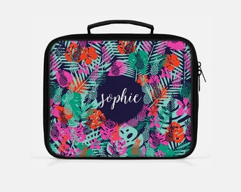 Tropical Lunch Box, Pineapple Lunch Box, Custom Lunch Bag,  Lunch Bag for Women, Cute Lunch Box, Adult Lunchbox, Monogrammed Lunchbox,