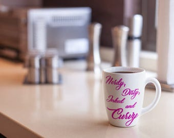 Nerdy Dirty Inked and Curvy Coffee Mug