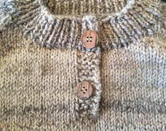 Hand Knit Boys Pullover Sweater Size 4-5 T