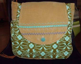 Bag, shoulder bag, shoulder bag, Velvet corduroy