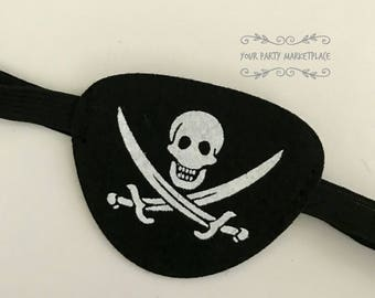 Pirate Eye Patch, Pirate Party Favors, Pirate Party, Jake and Neverland Pirates Party, Pirate Birthday, Pirate Patch, Jake and Pirate Party