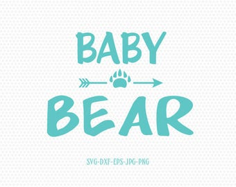 Baby Bear svg,bear family,baby bear,for CriCut Silhouette cameo Files svg jpg png dxf