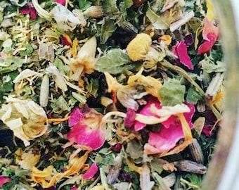 The Surrender Blend) | Organic Vaginal Yoni Steam Herbs | Womb Wisdom | Divine Feminine Ritual | Priestess Blessed | International Shipping
