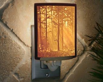 Woodland Sunbeams Porcelain Lithophane Night Light
