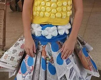 recycled materials girl dress