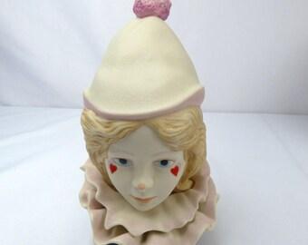 Cybis Porcelain Figurine Valentine Girl Clown Bust Clemons-Eicken