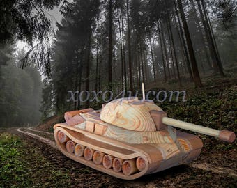 Деревянная игрушка танк ис7. Wooden toy tank IS7