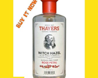 Thayers Rose Petal Witch Hazel with Aloe Vera Alcohol-Free Toner 12 oz.