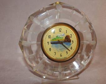 Vintage USSR clock Soviet mechanical table clock Retro Desk watch Old 1960s handmade clock