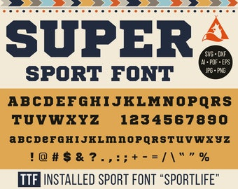 Bold Sport Font Svg Sport Monograms Svg Dxf Silhouette cut Alphabet, Sportive monogramming Svg Png Jpg Eps Pdf Ai Cricut Vinyl decal Letters